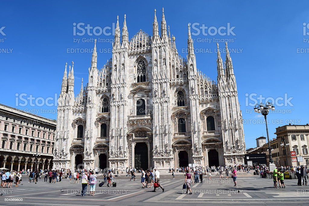 Cathedral of Milan stock photo