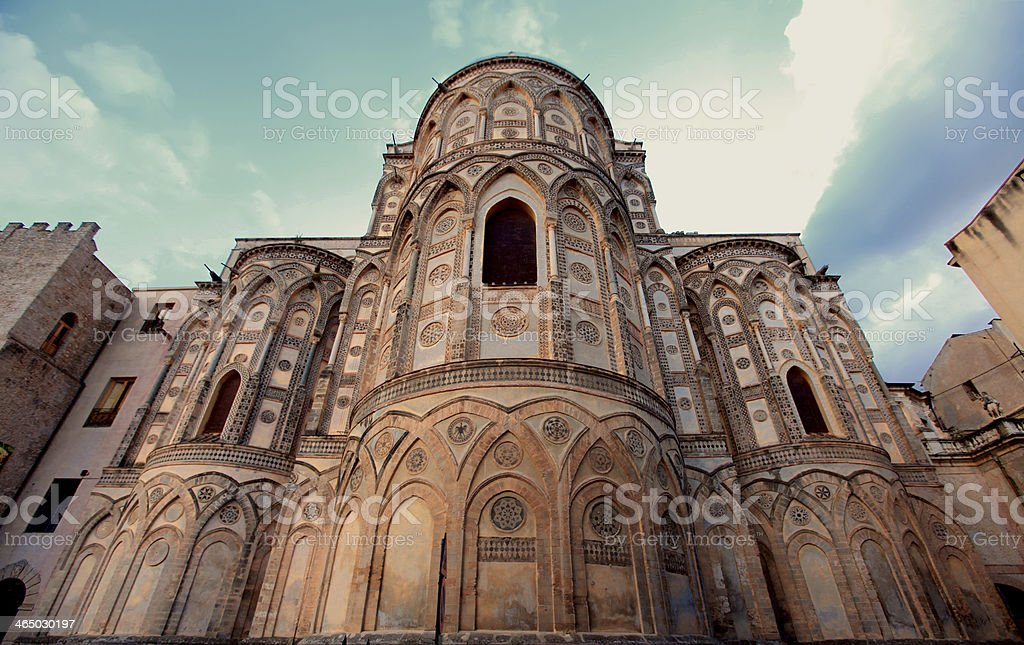Cathedral of Monreale in Palermo, Sicily royalty-free stock photo