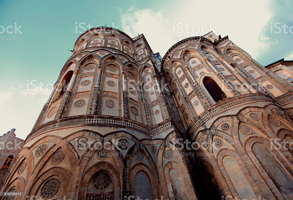 Cathedral of Monreale in Palermo, Sicily stock photo