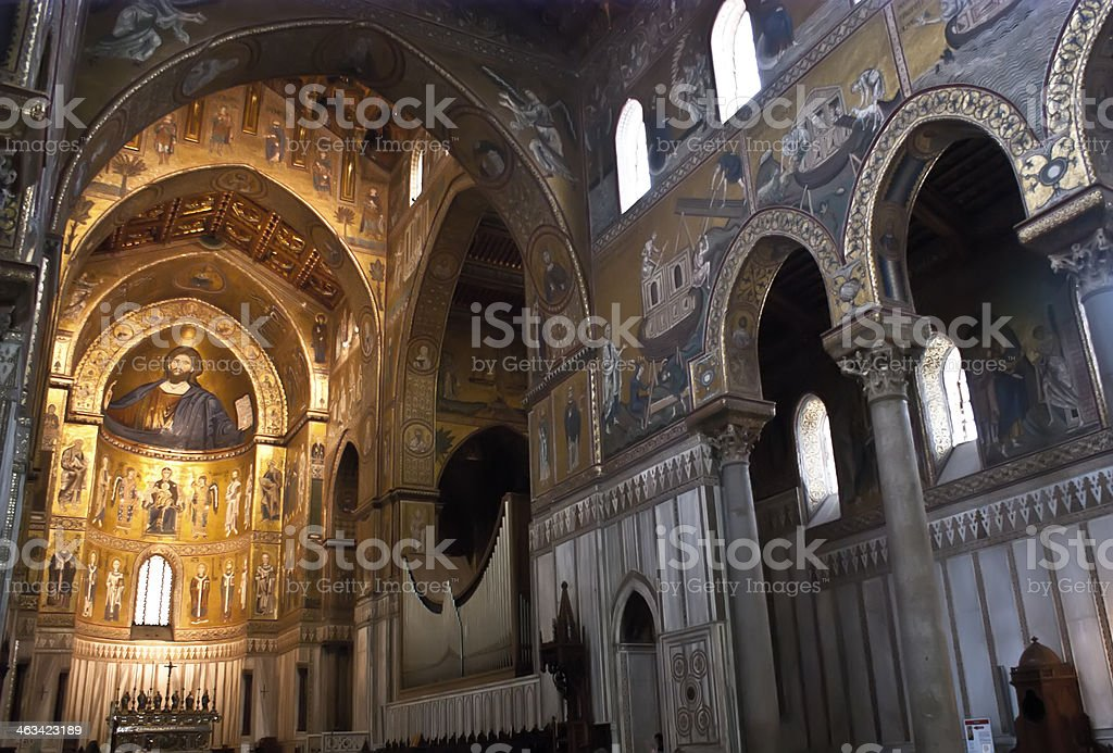 Cathedral of Monreale. Palermo royalty-free stock photo