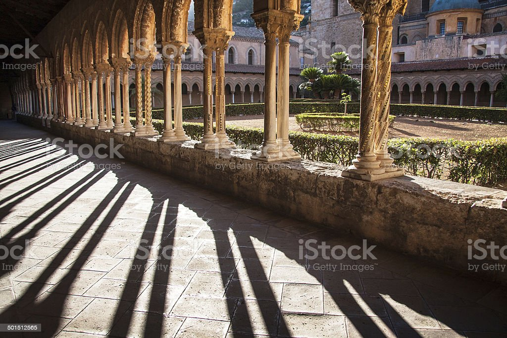 Cathedral of Monreale, Sicily, Italy stock photo