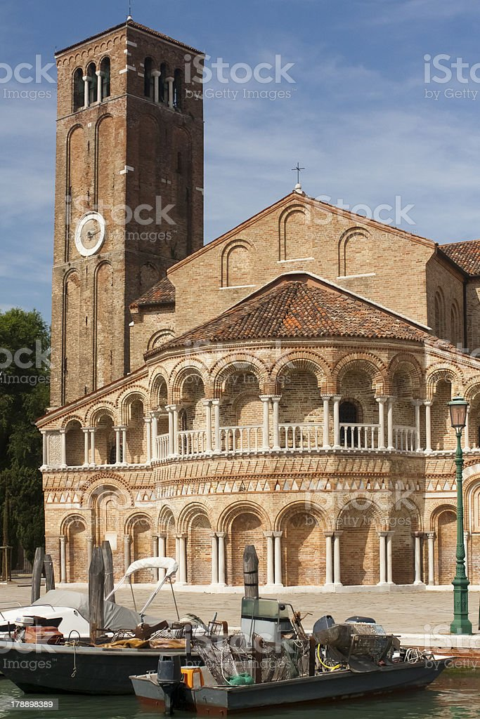 cathedral of Murano , Venice, Italy royalty-free stock photo