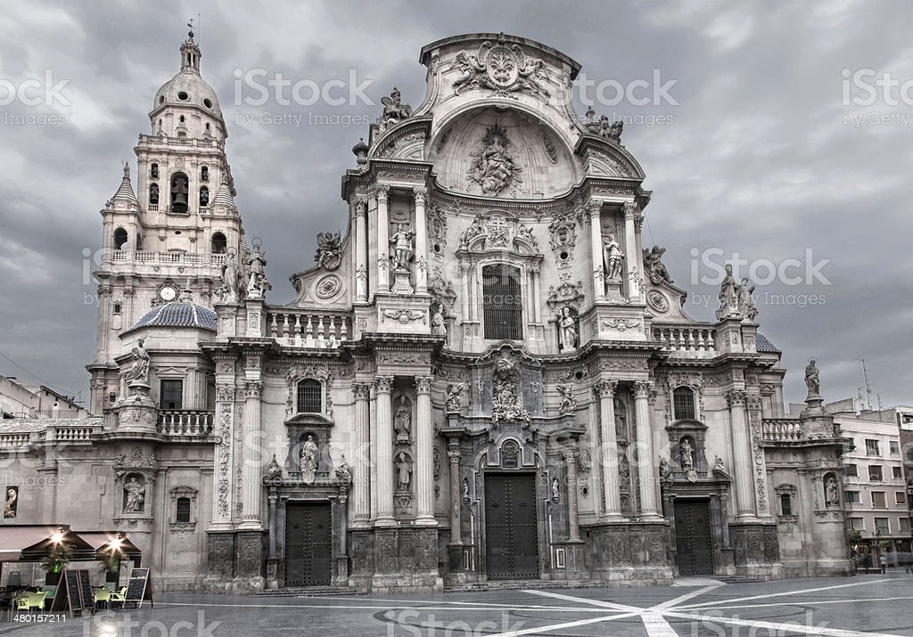 Catedral de Murcia stock photo