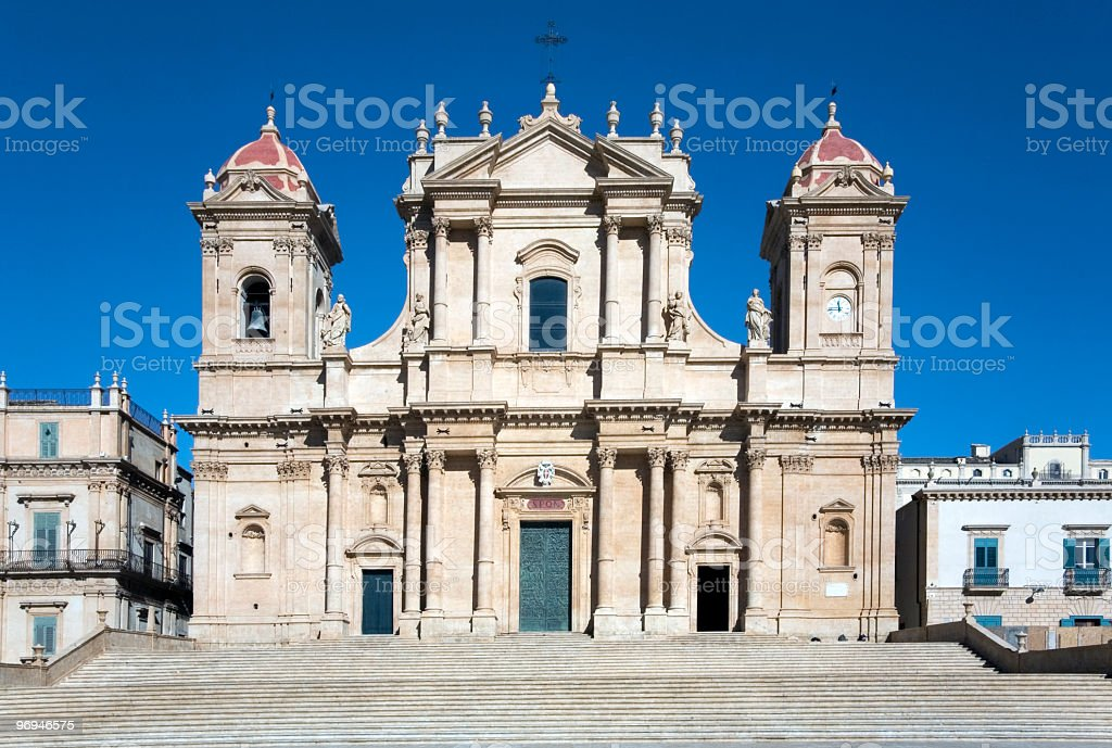 Cathedral of Noto, Sicily royalty-free stock photo