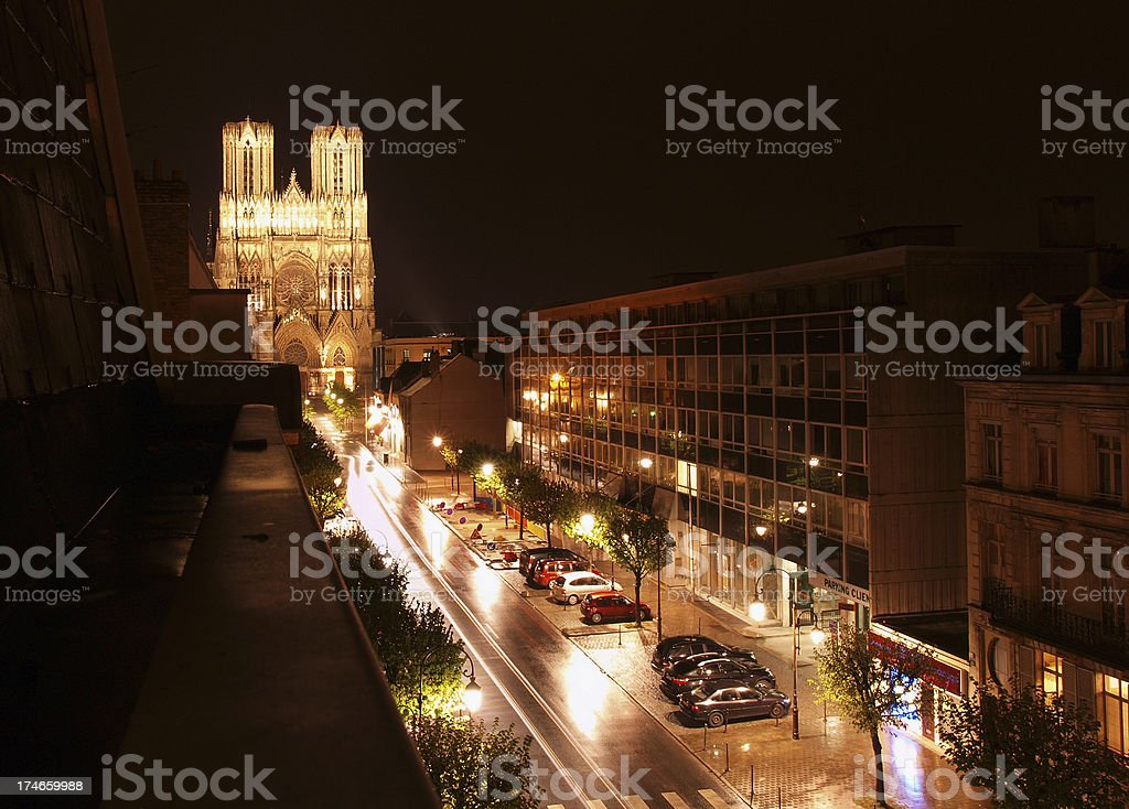 Cathedral of Notre-Dame, Reims stock photo