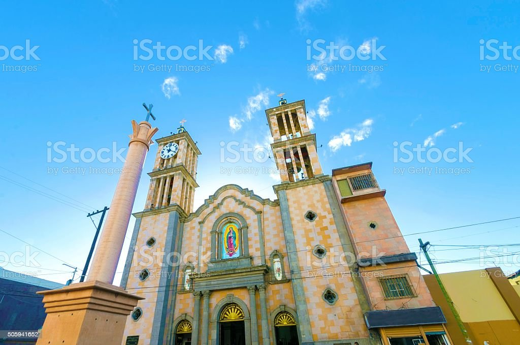 Catedral de Nuestra Senora de Guadalupe, Tijuana, Mexico stock photo