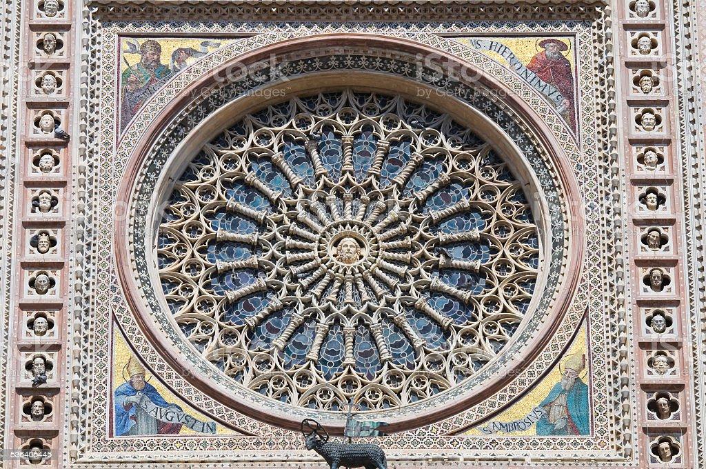 Cathedral of Orvieto. Umbria. Italy. stock photo
