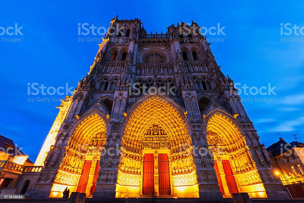 Cathedral of Our Lady of Amiens stock photo