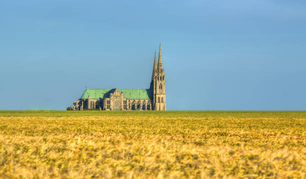 Cathedral of Our Lady of Chartres, France stock photo