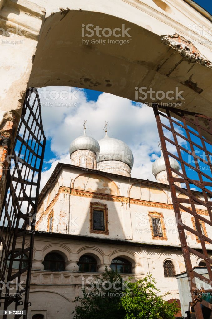 Cathedral of Our Lady of the Sign, Veliky Novgorod, Russia stock photo