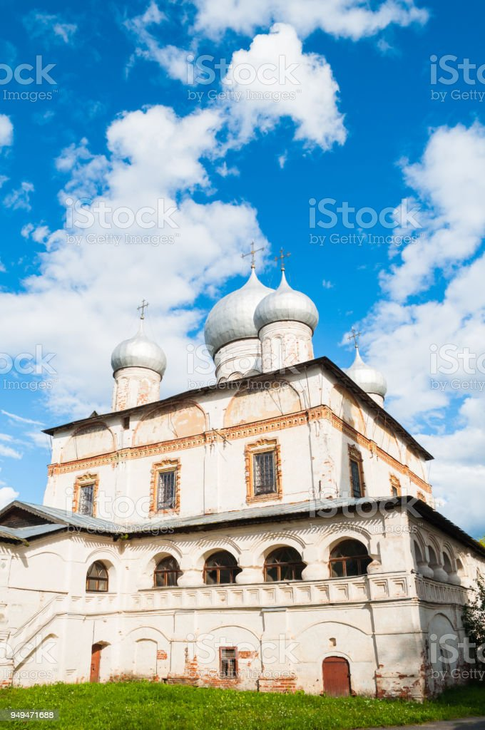 Cathedral of Our Lady of the Sign,Veliky Novgorod, Russia stock photo