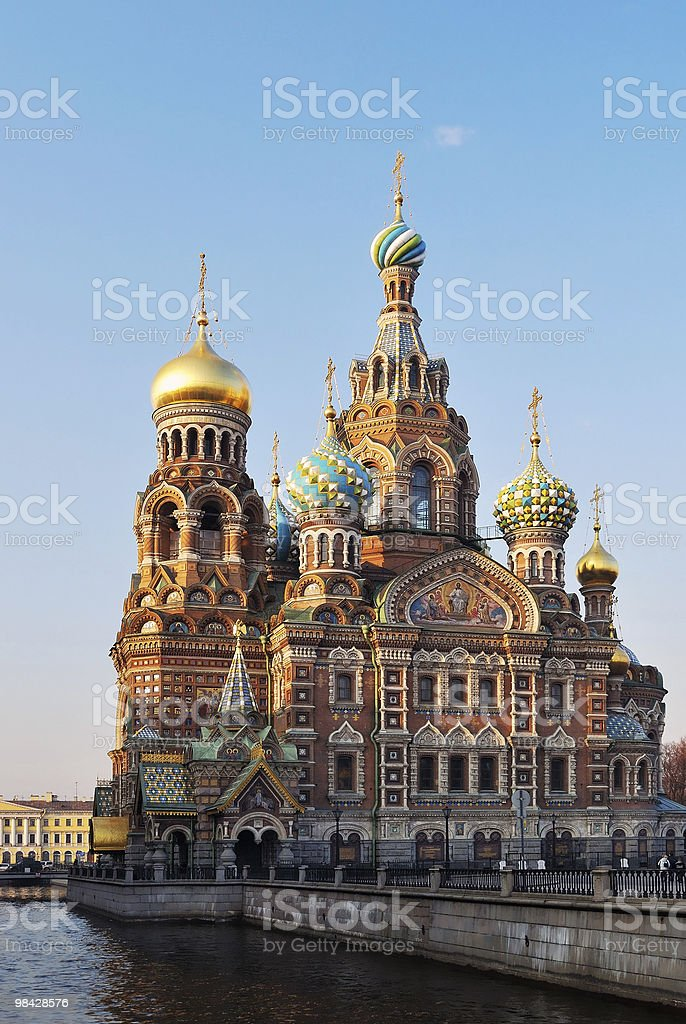 Cathedral of Our Savior on the Blood royalty-free stock photo