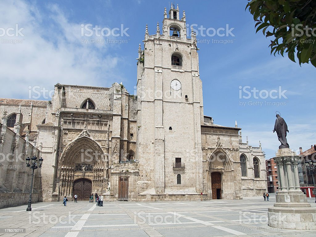 Cathedral of palencia, Spain stock photo