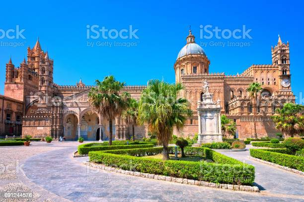 Cathedral of Palermo is a prominent landmark in Sicily, Italy