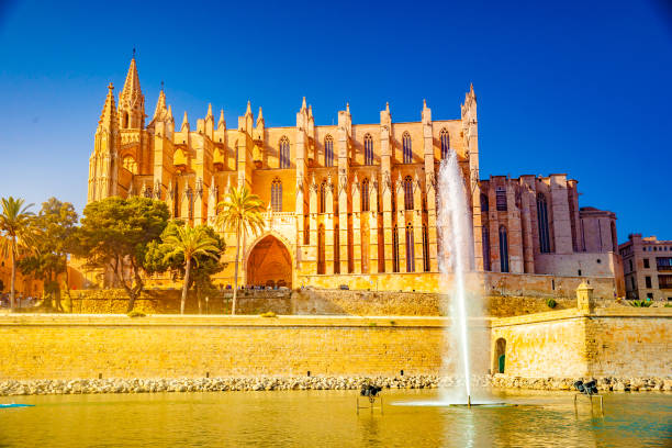 Cathedral of Palma de Mallorca. stock photo