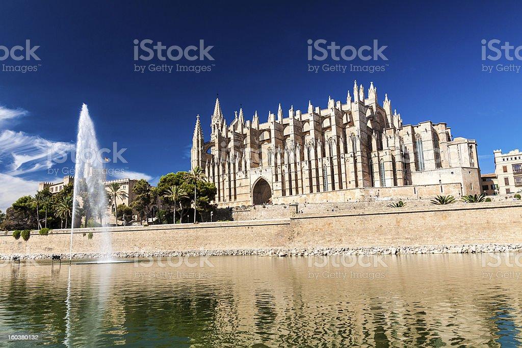 Cathedral of Palma de Mallorca stock photo