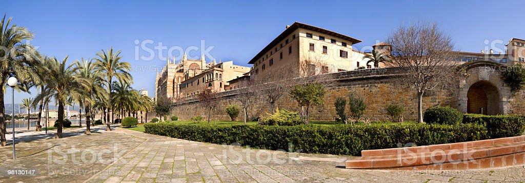 Cattedrale di Palma panoramica foto stock royalty-free