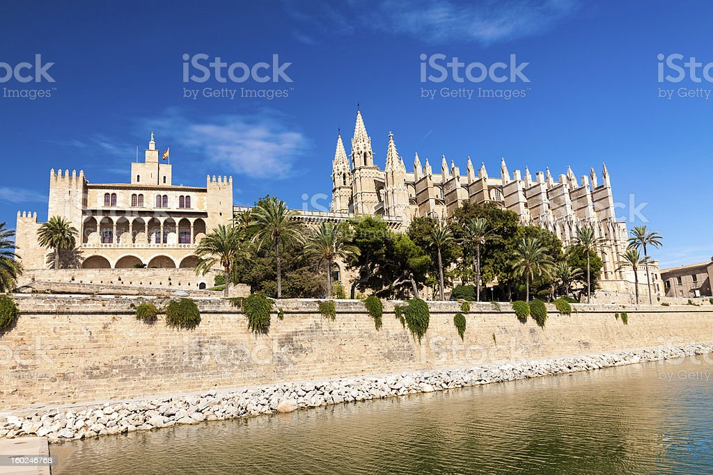 Cathedral of Palma stock photo