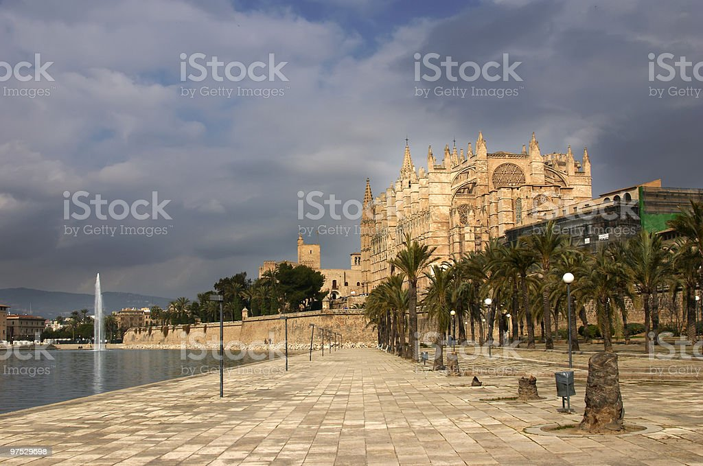 Cathedral of Palma royalty-free stock photo