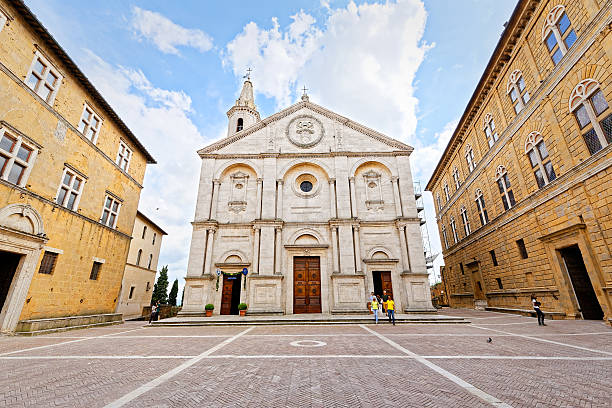 Cathedral of Pienza, Tuscany Cathedral of Pienza, Tuscany pienza stock pictures, royalty-free photos & images
