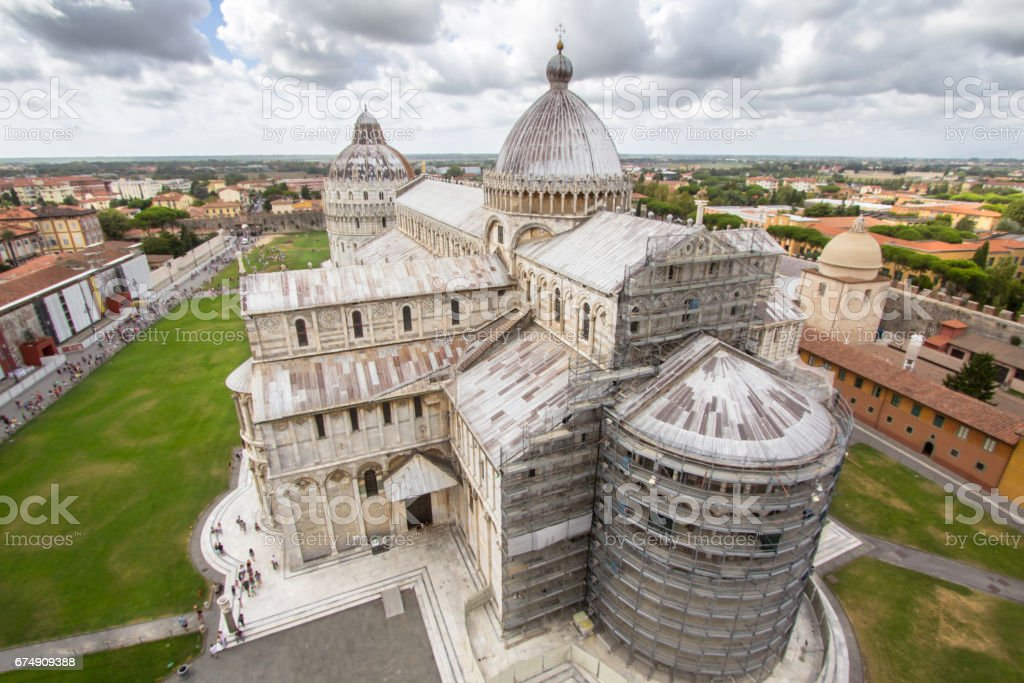 Cathedral of Pisa. The Piazza dei Miracoli (Piazza del Duomo). Italy. royalty-free stock photo