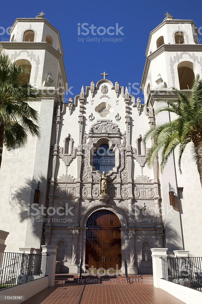 Cathedral of Saint Augustine, Tucson royalty-free stock photo