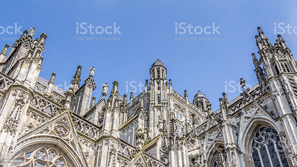 Cathedral of Saint John in 's-Hertogenbosch in the  Netherlands stock photo