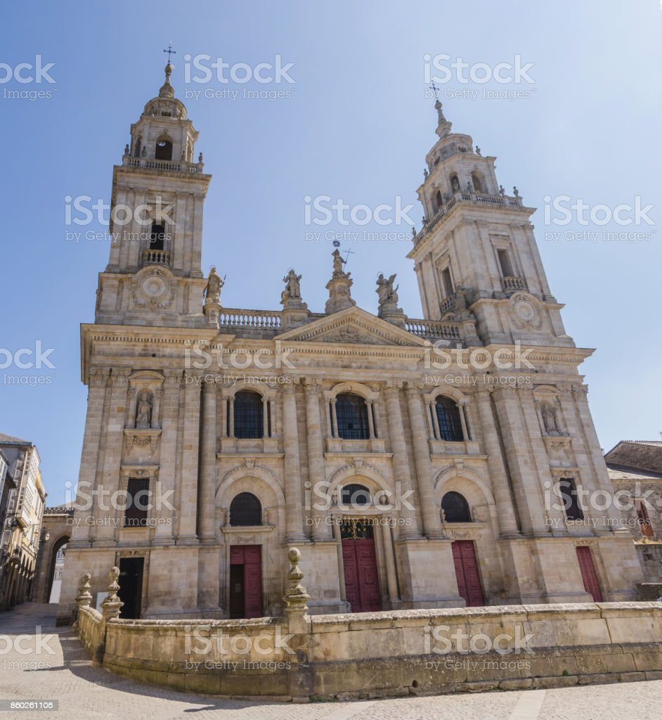 Cathedral of Saint Mary in Lugo Galicia Spain stock photo
