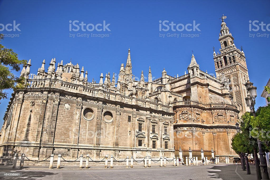 Cathedral of Saint Mary in Seville, Spain. stock photo
