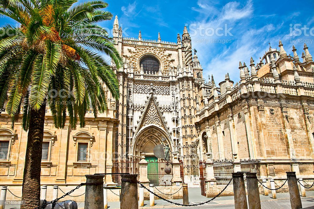 Cathedral of Saint Mary in Seville, Spain. royalty-free stock photo
