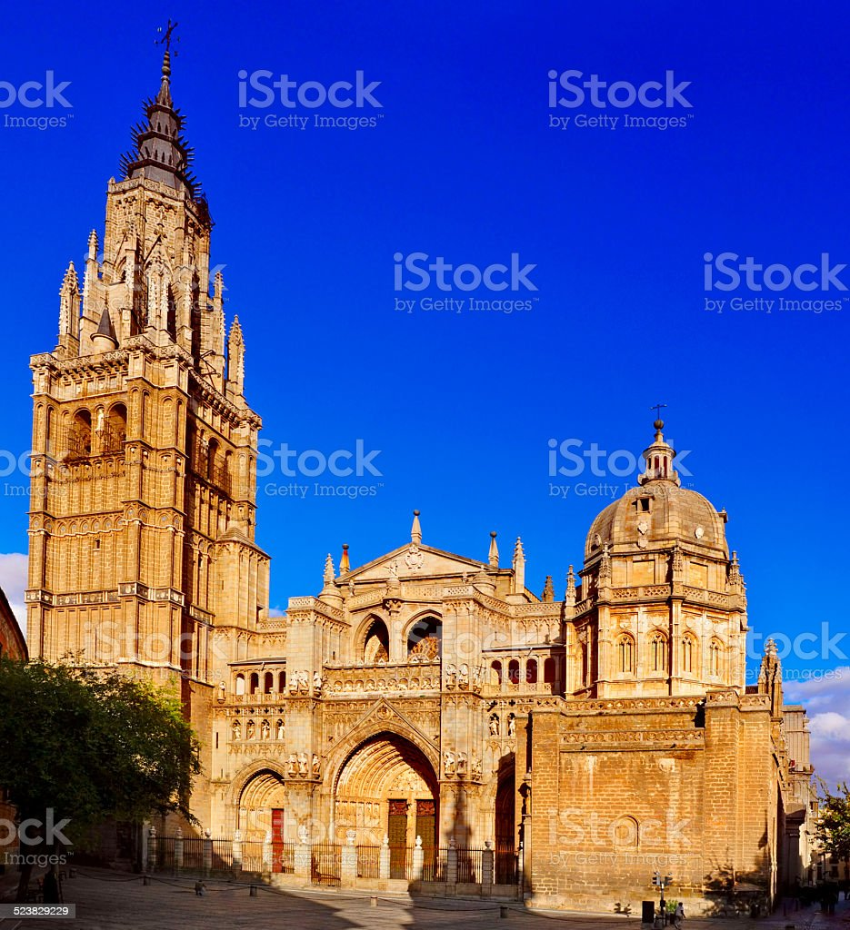 Cathedral of Saint Mary of Toledo, Spain stock photo