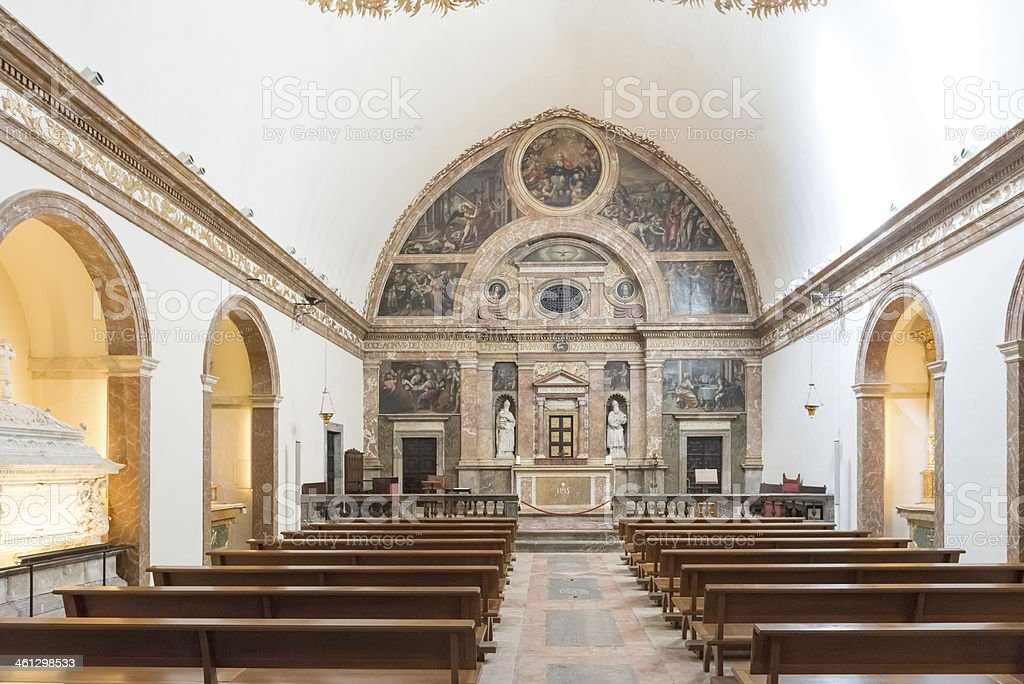 Cathedral of Saint Mary Tarragona in Spain stock photo