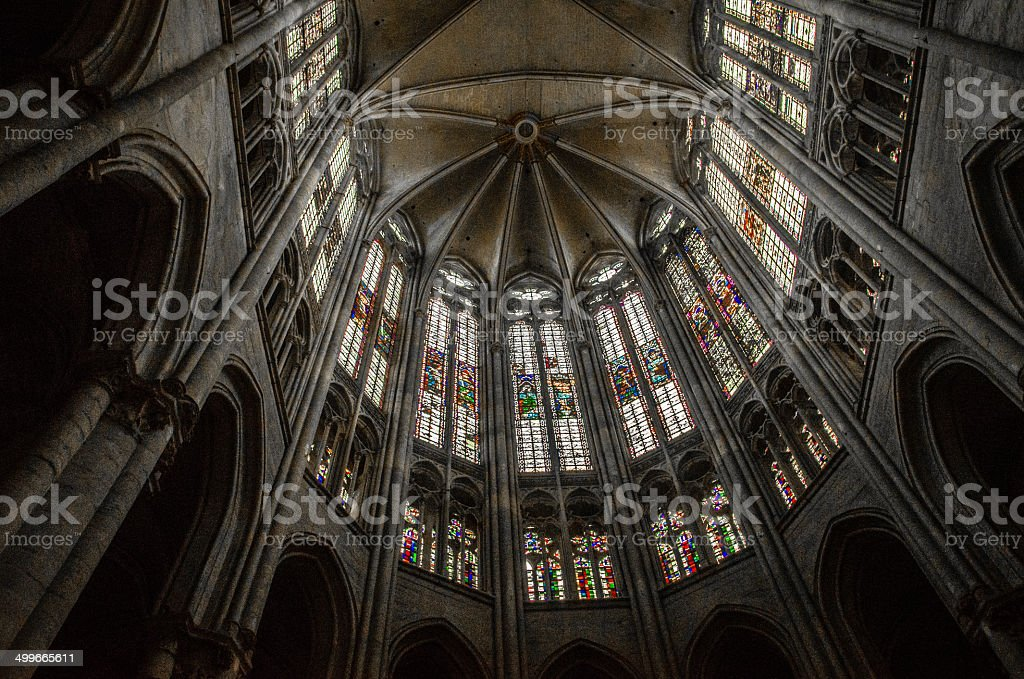 Cathedral of Saint Peter of Beauvais, France. stock photo
