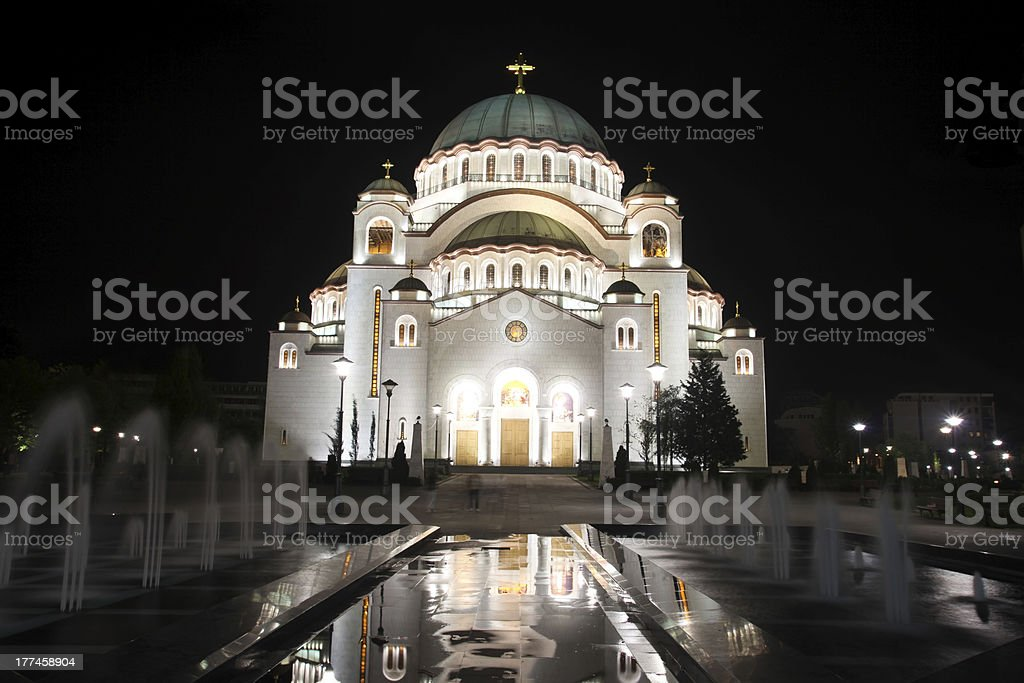 Cathedral of Saint Sava royalty-free stock photo