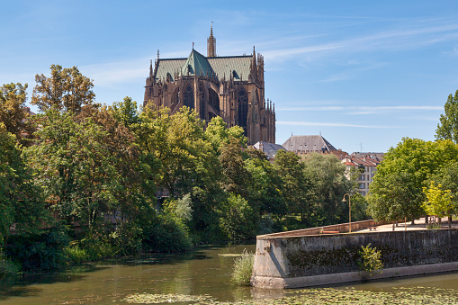 Cathedral Of Saint Stephen In Metz Stock Photo - Download Image Now