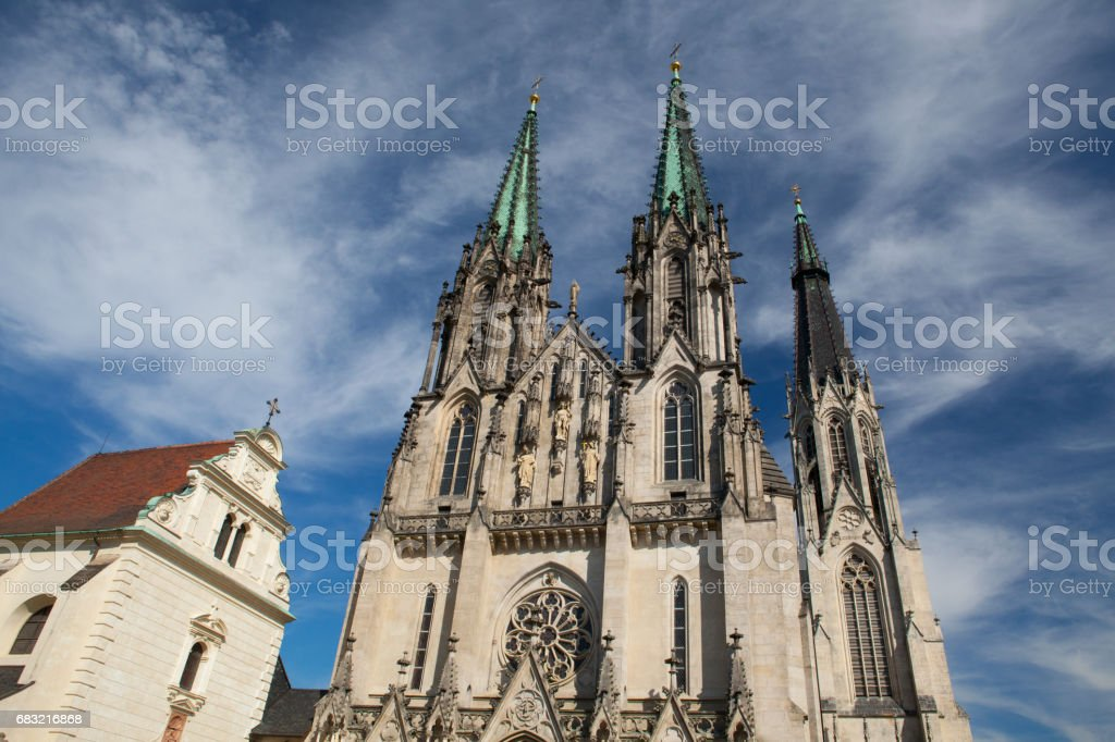 Cathedral of Saint Wenceslas, Olomouc royalty-free 스톡 사진