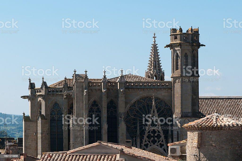 Cathedral of Saint-Michel, La Cité, Carcassonne, France stock photo