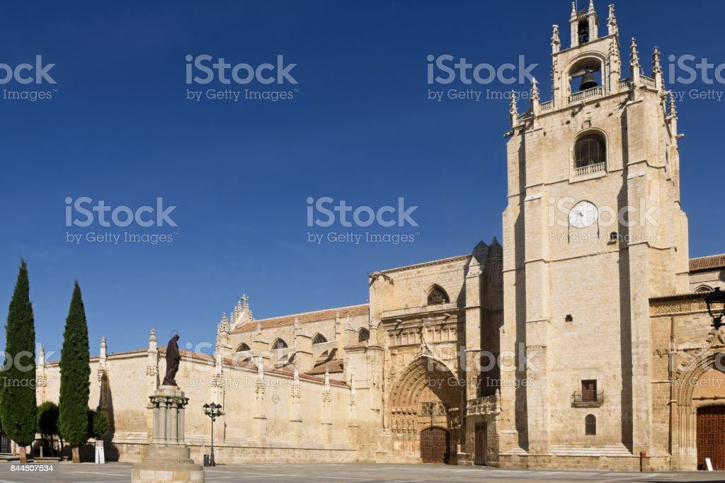 Cathedral of San Antolin of Palencia, Castilla y Leon, Spain stock photo