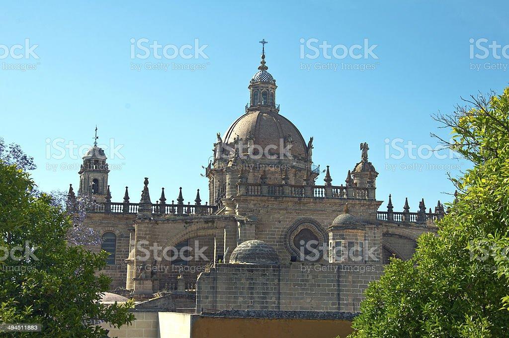 Cathedral of San Salvador city of Jerez de la Frontera stock photo