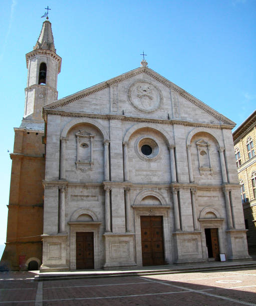 Cathedral of Santa Maria Assunta, Pienza, Tuscany, Italy Cathedral of Santa Maria Assunta, Pienza pienza stock pictures, royalty-free photos & images