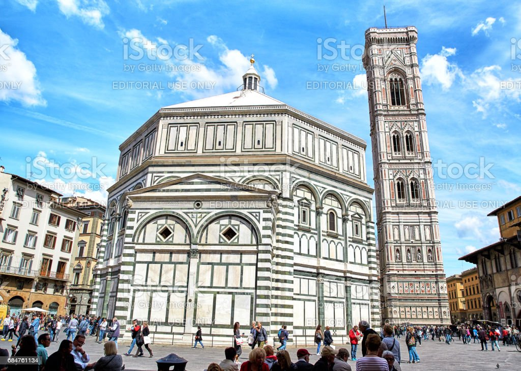 Cathedral of Santa Maria del Fiore and Baptistery stock photo