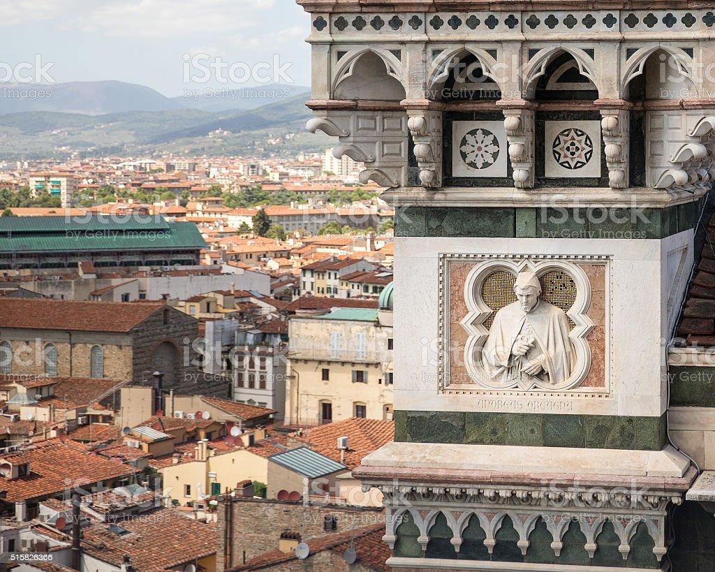 Cathedral of Santa Maria del Fiore Architectural Detail stock photo