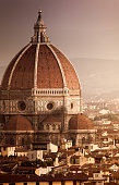 Cathedral of Santa Maria del Fiore at sunset. Florence. Italy