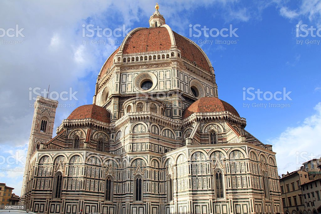 Cathedral of Santa Maria del Fiore, Florence, Italy. stock photo
