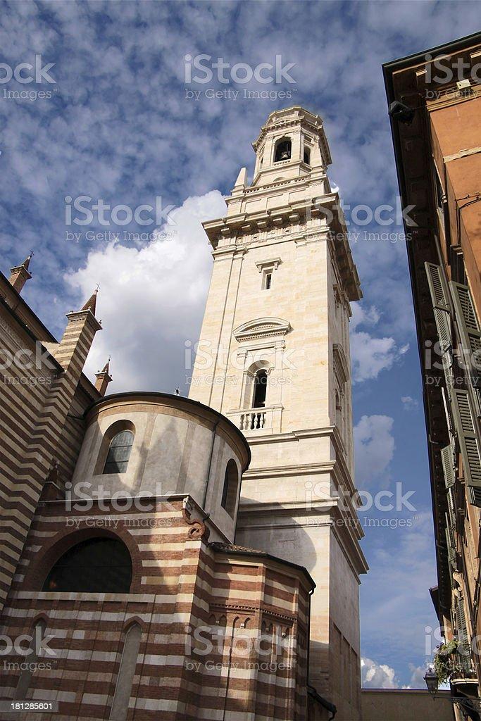 Cathedral of Santa Maria Matricolare in Verona royalty-free stock photo