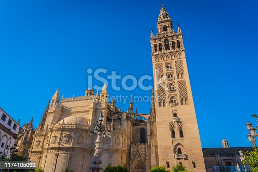 Giralda is the name given to the bell tower of the Cathedral of Santa Maria de la Sede of the city of Seville, in Andalusia, Spain.
