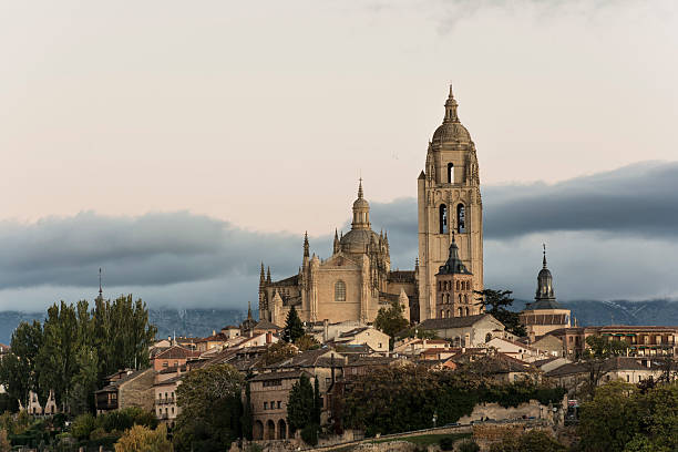 Cathedral of Segovia (Spain) Cathedral of Segovia (Spain) santa cruz seville stock pictures, royalty-free photos & images