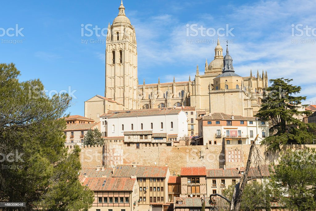 Cathedral of Segovia, Spain royalty-free stock photo