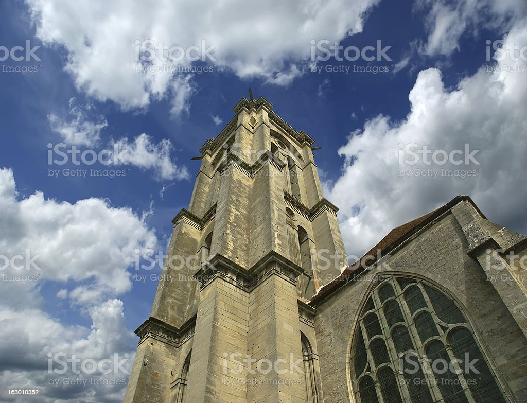 Cathedral (Notre Dame) of Senlis, Oise, Picardy, France royalty-free stock photo