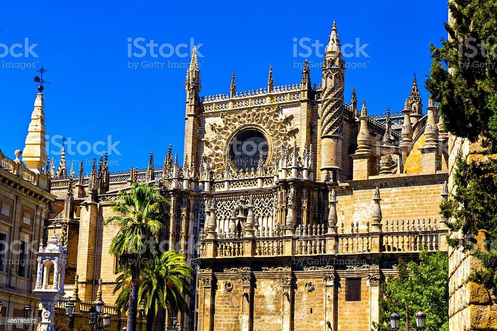 Cathedral of Sevilla stock photo